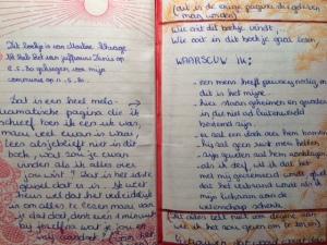 dagboek, eerste blad